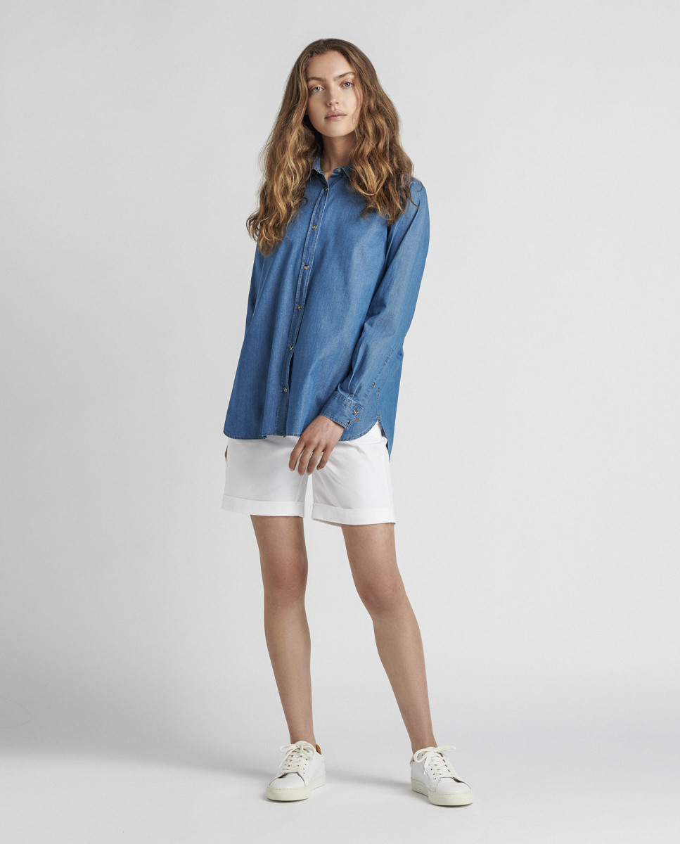 Camisa Jeans Oversize