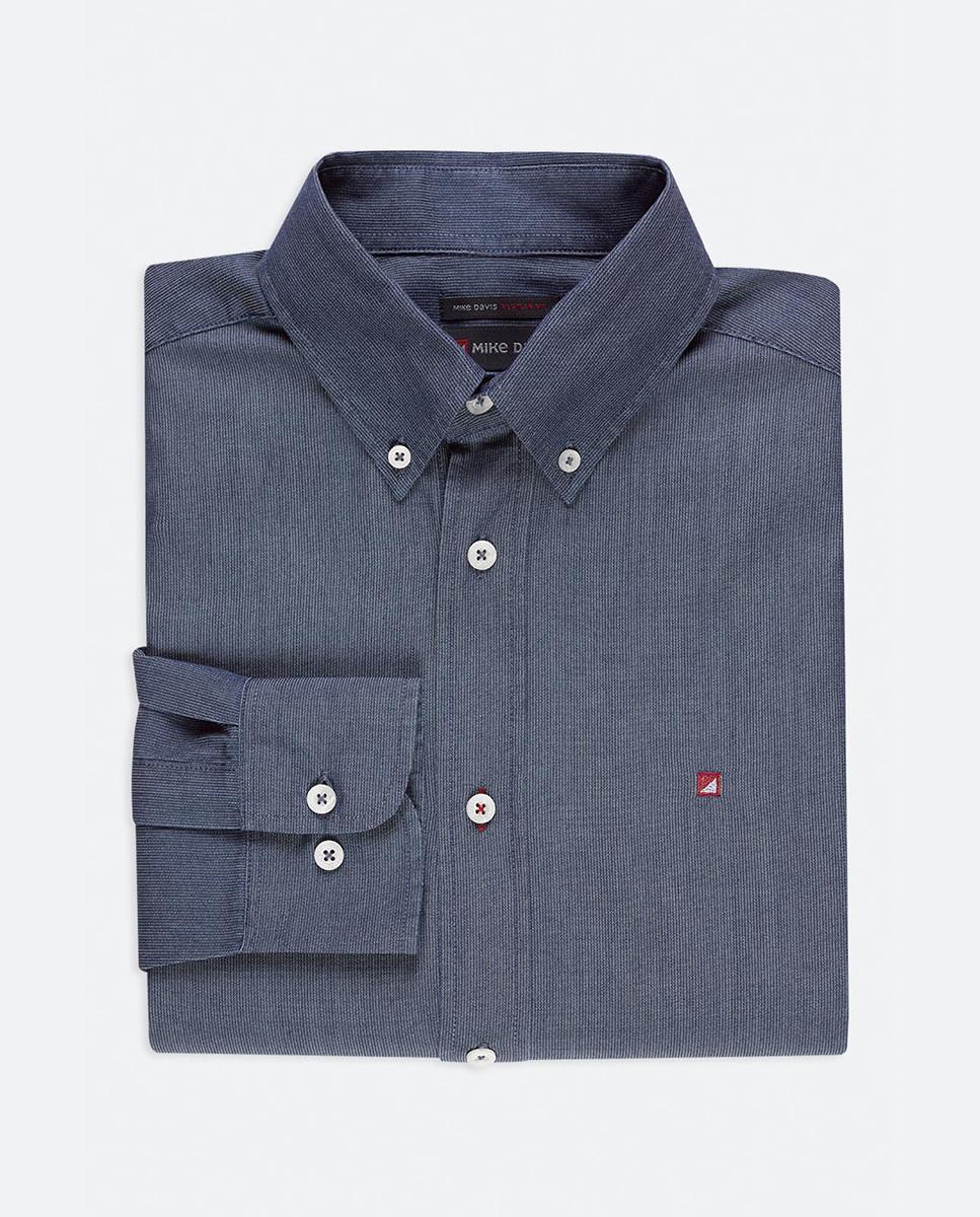 Camisa Regular Risca Indigo c/Bordado...