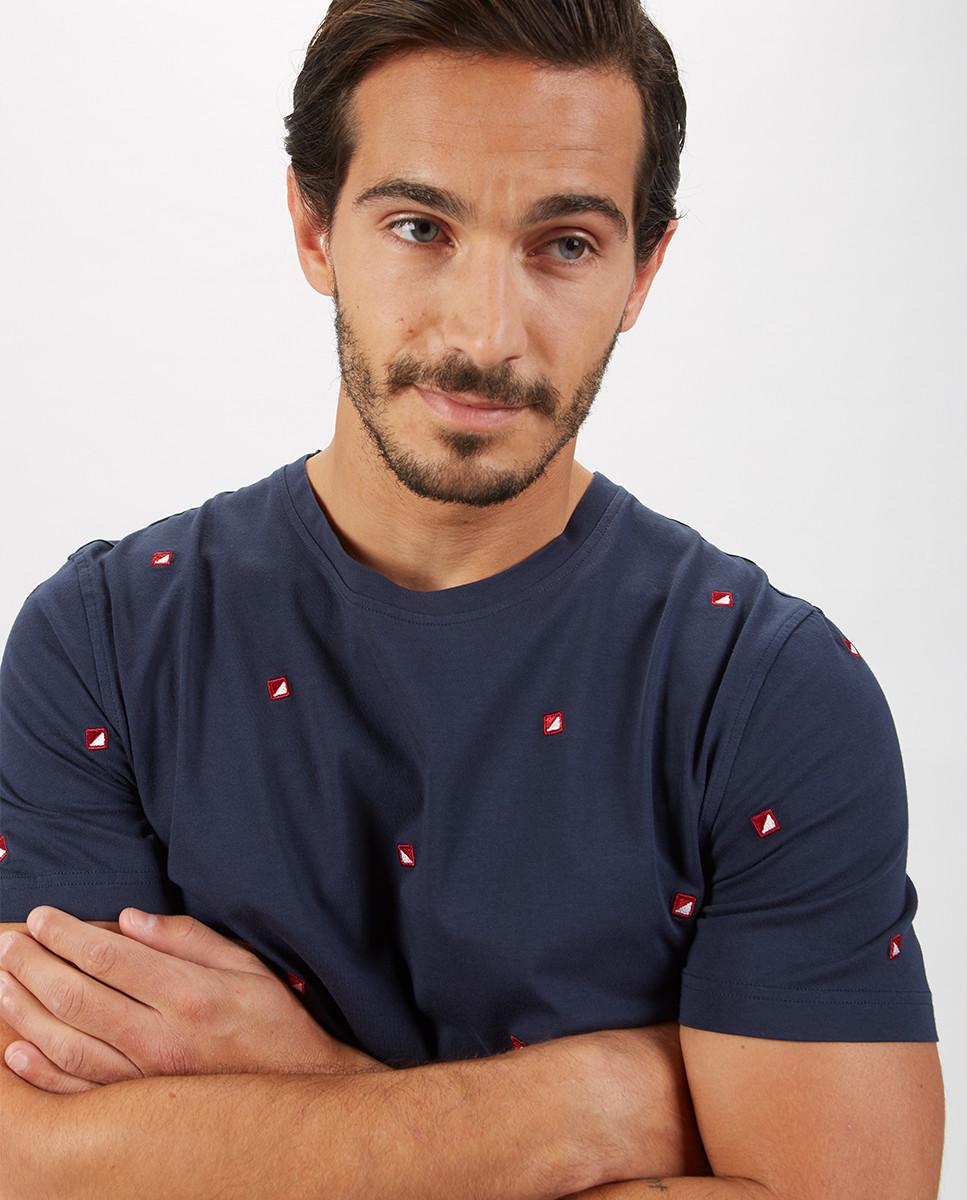 T-Shirt Jersey Bordado Velas Allover