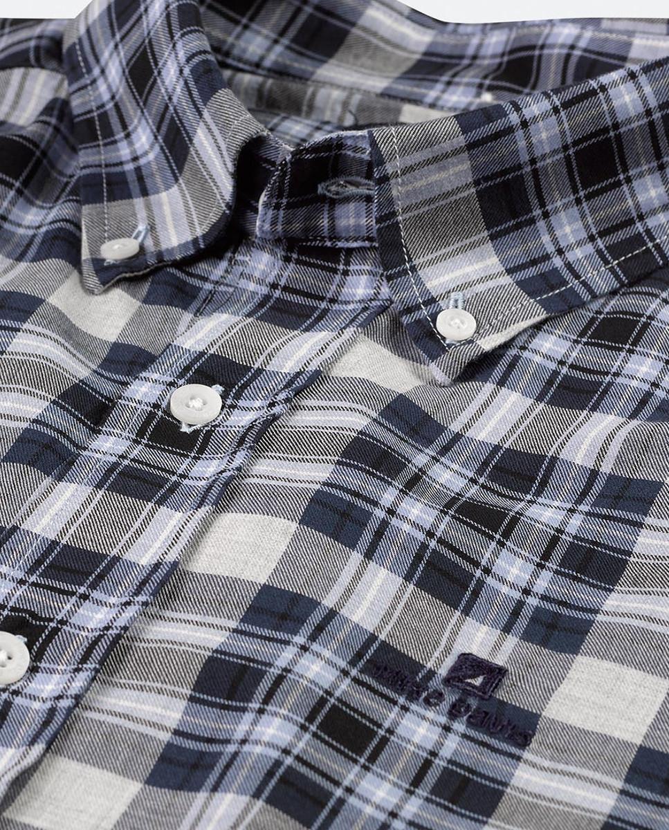 Camisa Regular Xadrez c/ Bordado