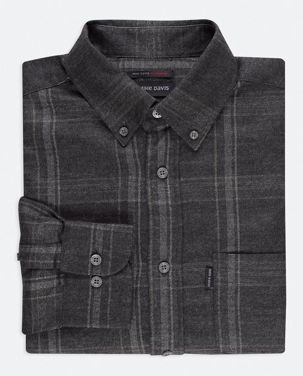 Camisa Regular Xadrez c/ Bolso