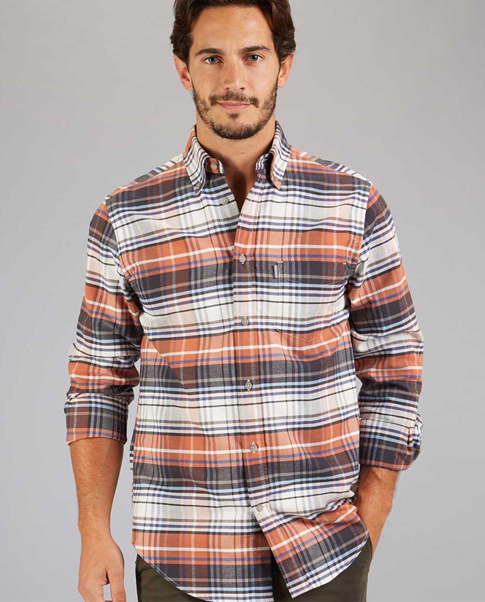 Camisa Regular Xadrez c/Bolso