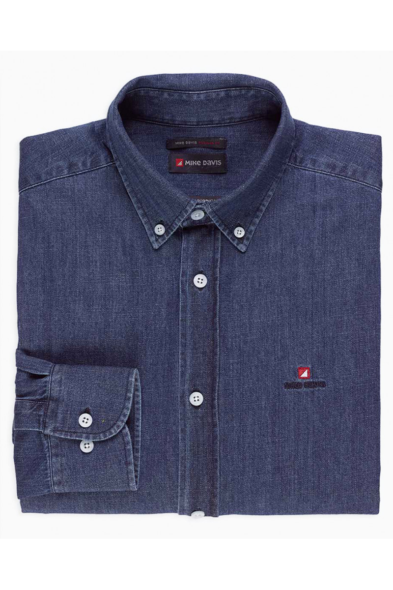 Camisa Denim Regular c/...
