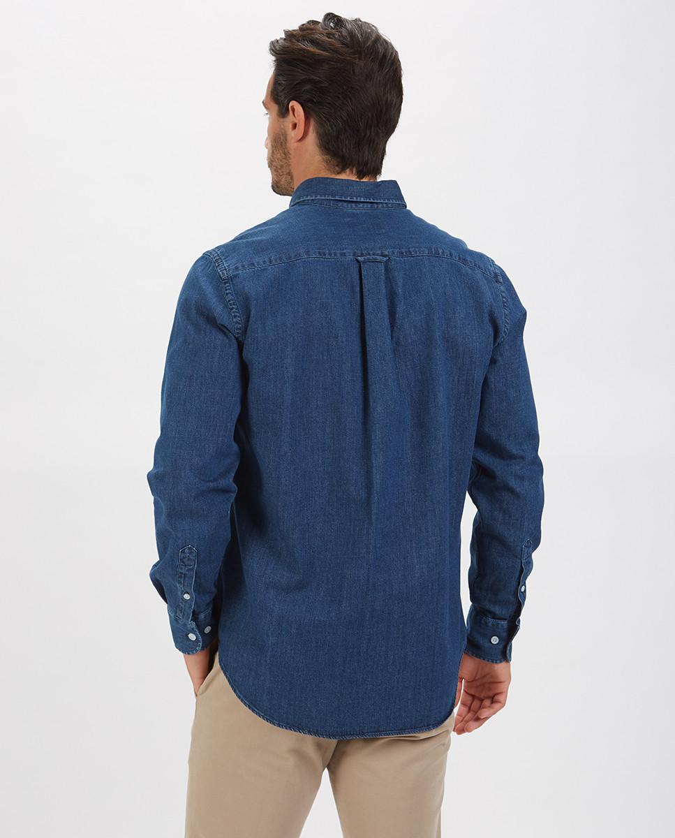 Camisa Denim Regular c/ Bordado ADN