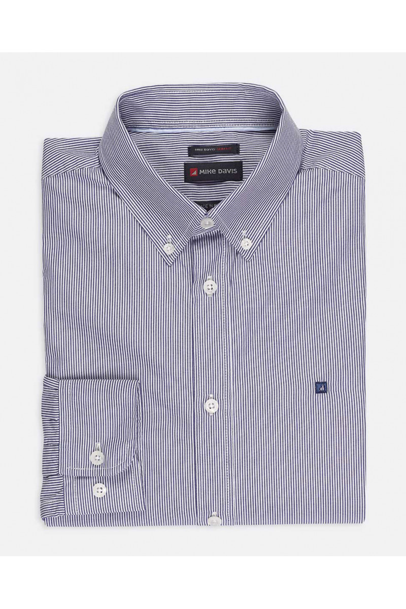 Camisa Slim c/Bordado Vela