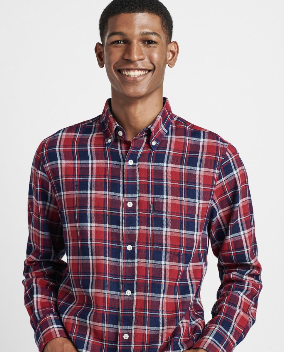 Camisa Regular Xadrez Indigo c/ Bolso