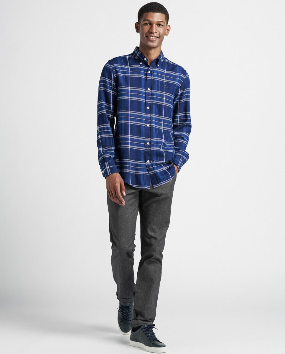 Camisa Indigo Xadrez Regular c/ Bordado