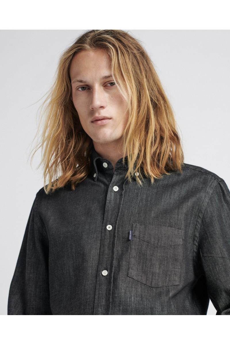 Camisa Regular Black Denim...